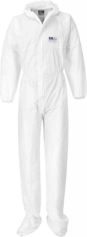 Portwest ST41 BizTex Microporous Coverall with Boot Covers Type 6/5 (Pack of 50)
