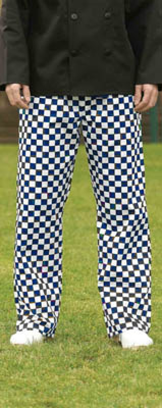 Harpoon CCTRO Chefs Check Trousers Large Royal / White Check