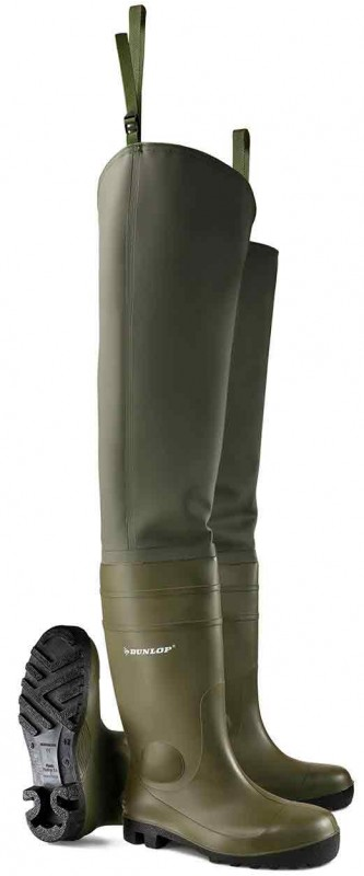 Dunlop PTW PVC Thigh Waders