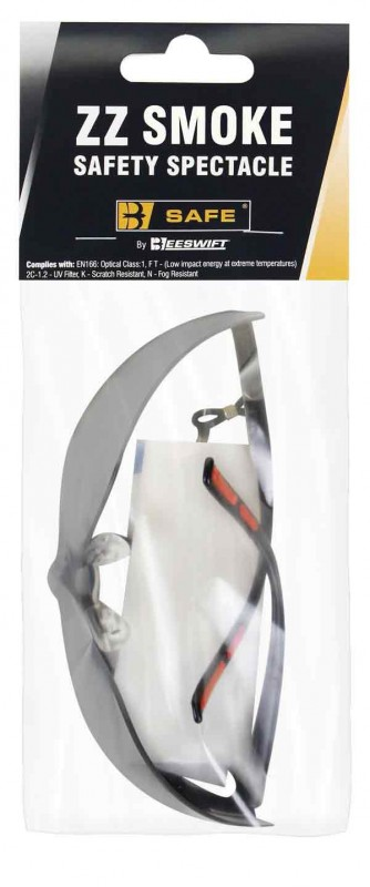 B-Safe Prepack BS099GY Zz Grey Safety Spectacle