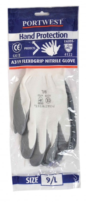 Portwest A319 Flexo Grip Nitrile Glove (with merchandise bag)