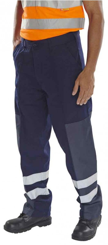 Click PCNT27 PolyCotton Work Trouser with Ballistic Nylon Patches