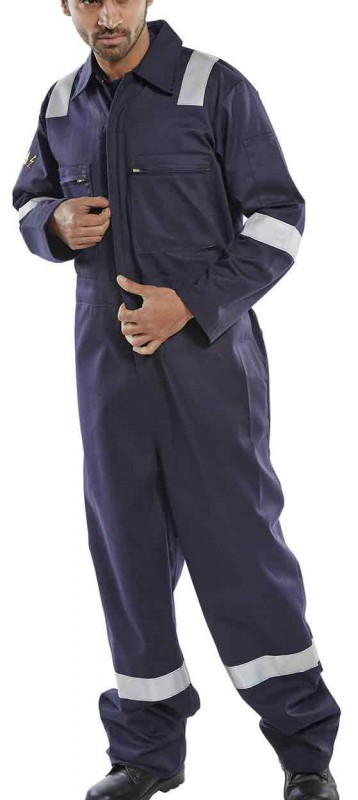 Click CFRASBBS Flame retardent Anti Static Burgan Boiler Suit