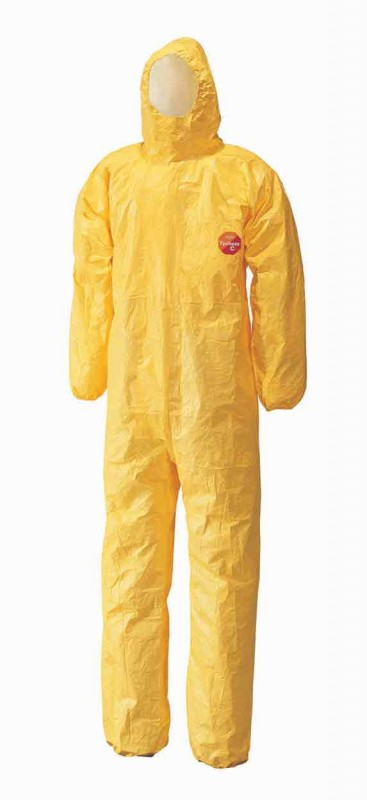 DuPont Tychem C Model CHA5 Hooded Coverall