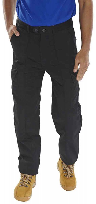 Click PCTHWB 7oz PolyCotton Trousers Black