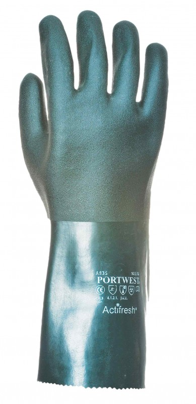 Portwest A835 Double Dipped PVC Gauntlet 35cm