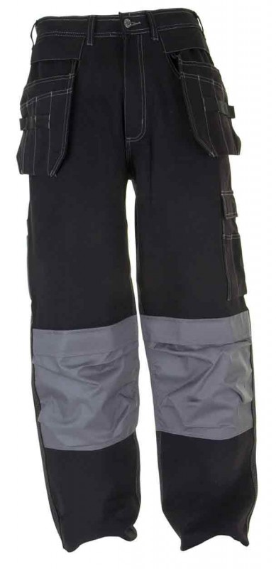 Click Workwear KMPT Kington Black M/Pocket Trousers