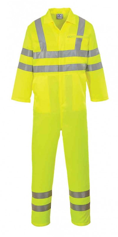 Portwest E042 Hi-Vis Poly-cotton Coverall