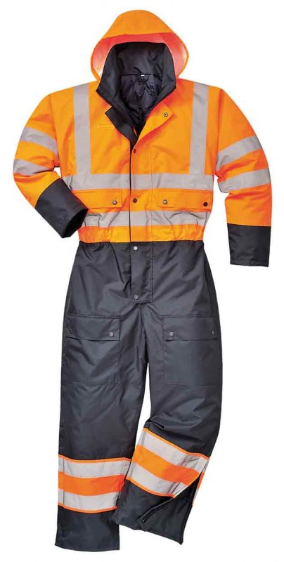 Portwest S485 Hi-Vis Contrast Coverall - Lined