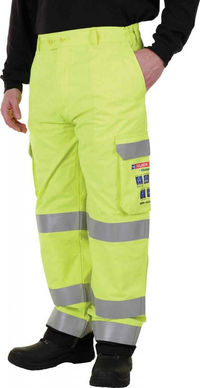 Click Arc CARC5 Arc Compliant Saturn Yellow Trousers