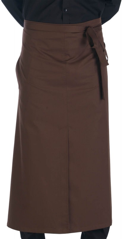 Catering Clobber Long Split Apron Brown