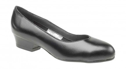Footsure Black Court Shoe