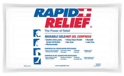 "Rapid Aid RA402 Deluxe Hot/Cold Gel Compress C/W Contour Gel 6""X 10"""