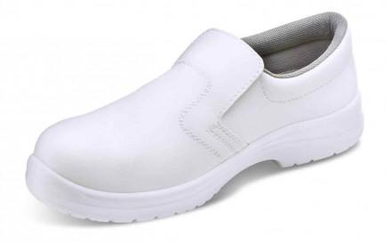 Click CF832 Microfibre Slip On Shoe S2 White