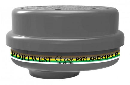 Portwest P971 ABEK1 P3 Bayonet Filter  (Pk4)