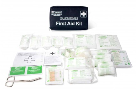 Click Medical CM1828 German Vehicle First Aid Kit Din 13164 In Travel Bag