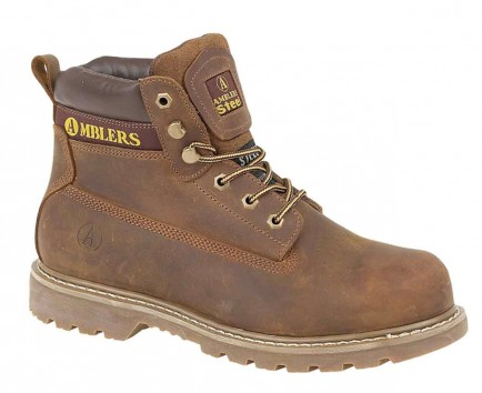 Amblers Steel FS164 Welted Safety Boot Brown
