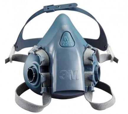 3M 7502 Medium Silicone Half Mask