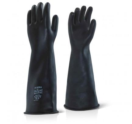 "Click ILHW17 Industrial Latex Heavyweight 17"" Rubber Glove"