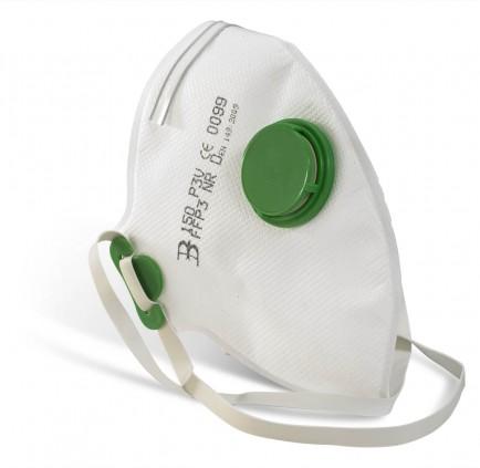 B-Brand Fold Flat P3 Mask Valved