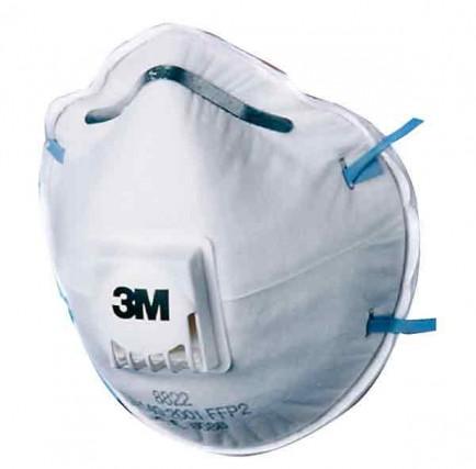 3M 8822 P2V Valved Respirator