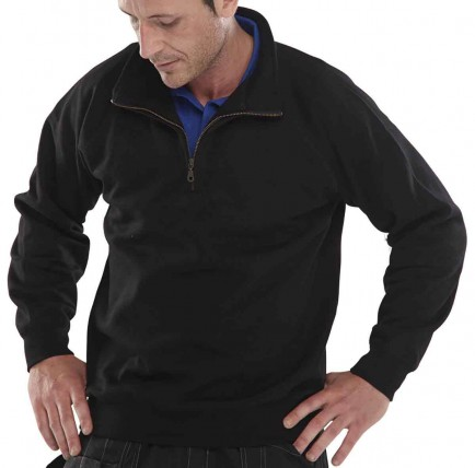 Click CLQZSS Quarter Zip Polycotton Sweatshirt