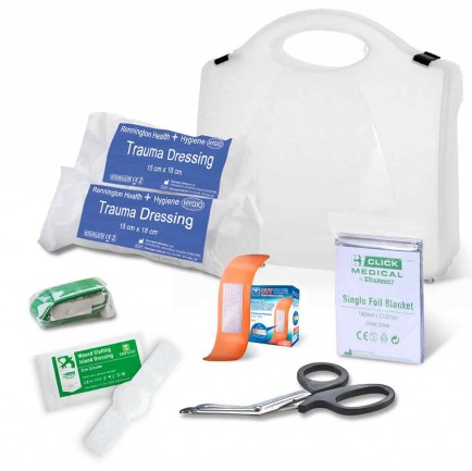 Click Medical CM0080 Bs8599-1:2019 Critical Injury Pack Low Risk In Box