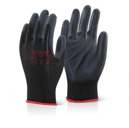 Click EC9BL PU Coated Glove Black