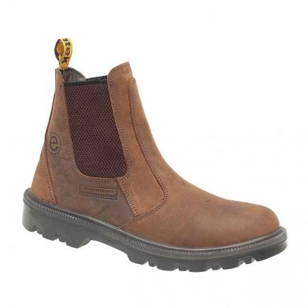 Centek FS131 Safety Dealer Boot Brown Greasy