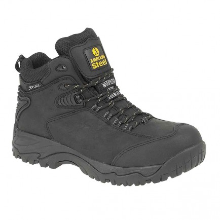 Amblers Steel Waterproof Safety Hiker Boot Black