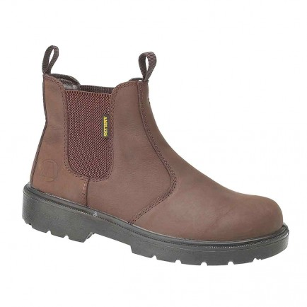 Amblers Steel FS128 Safety Dealer Boot Brown