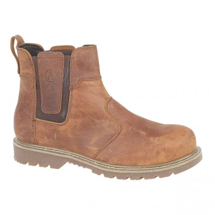 Amblers Steel FS165 Welted Safety Dealer Boot Brown Crazy Horse