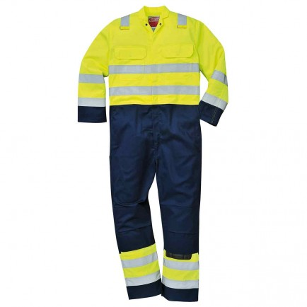 Portwest BIZ7 Hi Vis Anti-Static Bizweld™ Coverall