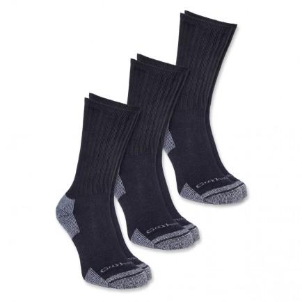 Carhartt A62-3 All-Season Cotton Sock 3-Pair