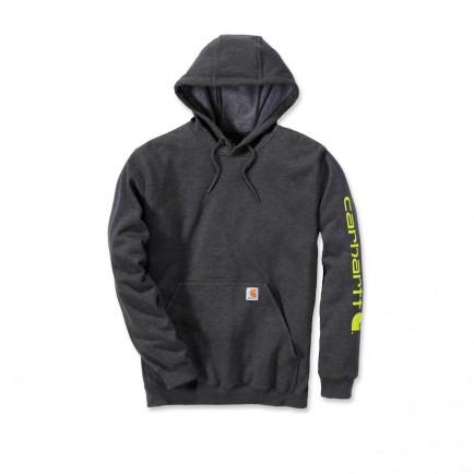Carhartt K288 Midweight Signature Sleeve Logo Hooded Sweatshirt