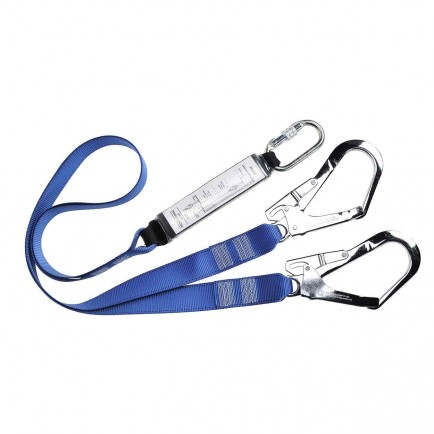 Portwest FP51 Double Lanyard Webbing With Shock Absorber