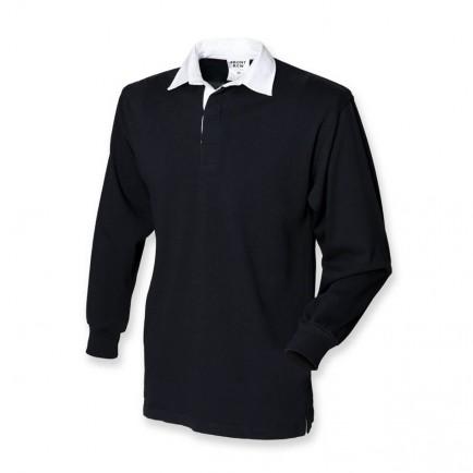 Front Row FR109 Kids Long Sleeve Plain Rubgy Shirt