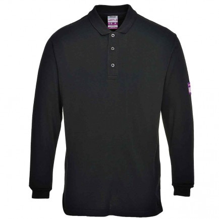 Portwest FR10 Flame-Resistant Anti-Static Long Sleeve Polo Shirt