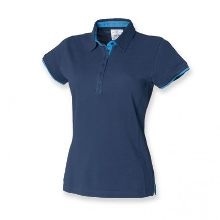 Front Row FR201 Contrast Pique Polo Shirt