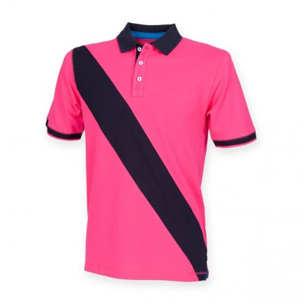 Front Row FR212 Diagonal Stripe House Polo Shirt