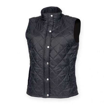 Front Row FR904 Ladies Diamond Quilted Gilet