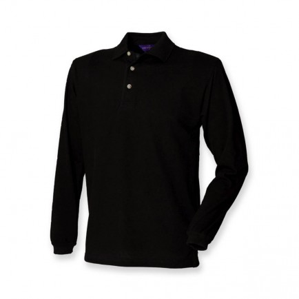 Henbury H105 Classic Long Sleeve Polo