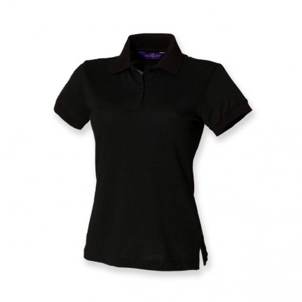 Henbury H306 Ladies Stretch Pique Polo Shirt