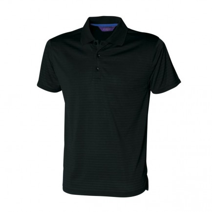 Henbury H473 Cooltouch Textured Stripe Polo Shirt