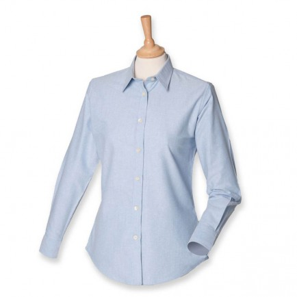 Henbury H511 Ladies Long Sleeve Classic Oxford Shirt