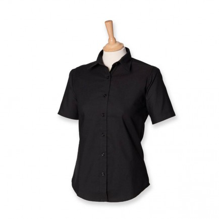 Henbury H516 Ladies Short Sleeve Oxford Shirt