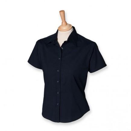 Henbury H540 Ladies Fitted Short Sleeve Blouse