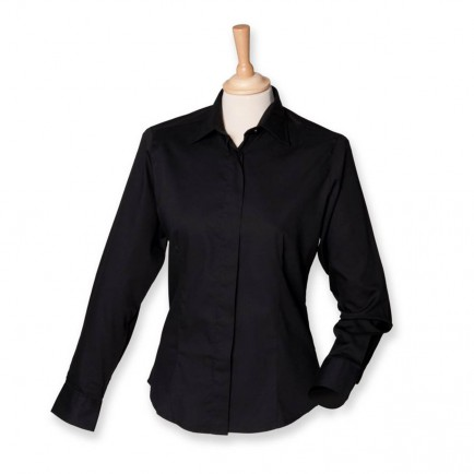 Henbury H551 Ladies Long Sleeve Oxford Shirt