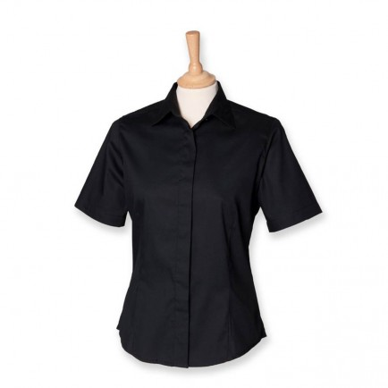 Henbury H556 Ladies Short Sleeve Oxford Shirt