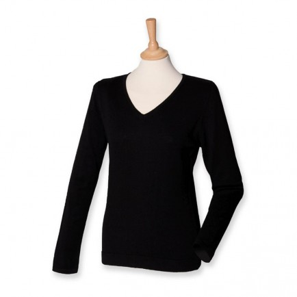 Henbury H721 Ladies V Neck Sweater